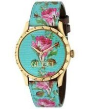 Gucci YA1264085 Multi-Color Dial Leather Strap Watch for Women - $1,082.99