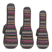 21 23 26 Inch Double Strap Hand Folk Canvas Ukulele Carry Bag Cotton Pad... - $39.75+