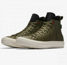 Womens Converse CTAS Waterproof Hi Boots Leather 158838C Olive/Egret Size 7 - $60.98
