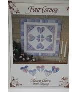 Four Corners Country Hearts Choice Quilted Wall Hanging Sewing Pattern  - $6.89