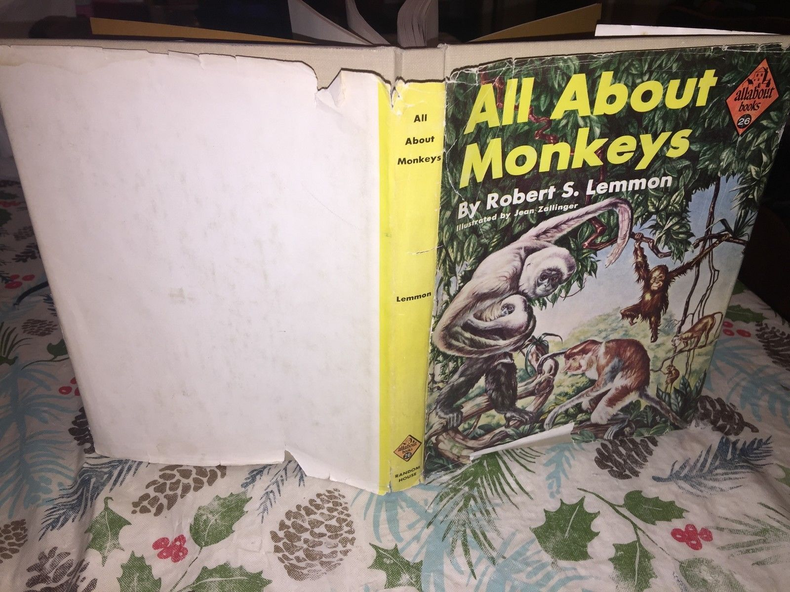 Primary image for All About Monkeys by Robert S. Lemmon (1958, Hardcover, 2nd Printing)