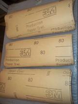 "44 3M Sanding Sheets 3-5/8"" X 9-1/8"" 80 Grit Sand Paper Surplus Inventory - $17.08"