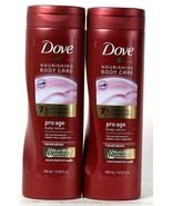 2 Bottles Dove 13.52 Oz Nourishing Care Pro Age Mature Skin NutriDuo Bod... - $28.99