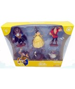 disney parks beauty and the beast 6 pcs figure cake topper playset new w... - $18.70