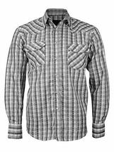 LW Men's Western Cowboy Pearl Snap Long Sleeve Rodeo Dress Shirt