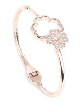 Lovely Clover Hinged Bangle Bracelet - $41.68