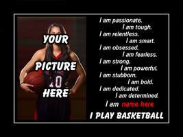 Personalized Custom Basketball Confidence Poster, Daughter/Son Inspiration - $27.99+
