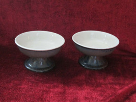 Mikasa Firesong potters craft  set of 2 footed fruit bowls  - $19.75