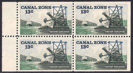 1976 Dredge Cascadas Canal Zone Booklet Pane of 4 Stamps Catalog Number 163a MNH