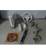 FULLY TESTED Original White Wii Console System w/ 2 Controls Cords Mario... - $124.68