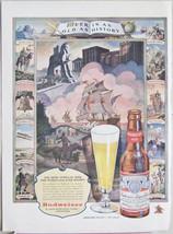 Original Vintage Budweiser Beer Ad - Beer As Old As History Print Ad Art... - $7.91