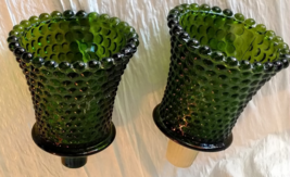 Vintage Glass Emerald Green Sconce Home Interiors Candle Holder Sconces ... - $19.99