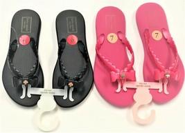 Kate Spade New York Women's Denise Bow Flip Flop Sandals w/Goldtone Spade Charm - $39.98