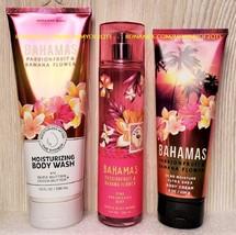 Bath and Body Works BAHAMAS PASSIONFRUIT BANANA FLOWER Mist Cream Wash - $39.00