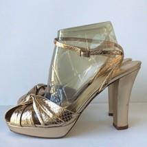 Kate Spade Womens  Garbo Metallic Leather Heels 9.5B Gold  - $57.97