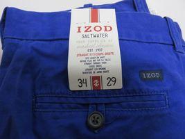 NOS w/ TAGS IZOD Saltwater Mazarine Blue Men's Straight Fit Pants Size W34 L29 image 4