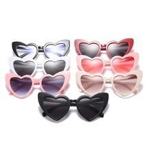 Cat Eye Sunglasses Women Love Heart Shaped Fashion Brand Designer Vintag... - $8.54