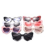Cat Eye Sunglasses Women Love Heart Shaped Fashion Brand Designer Vintag... - $161,16 MXN
