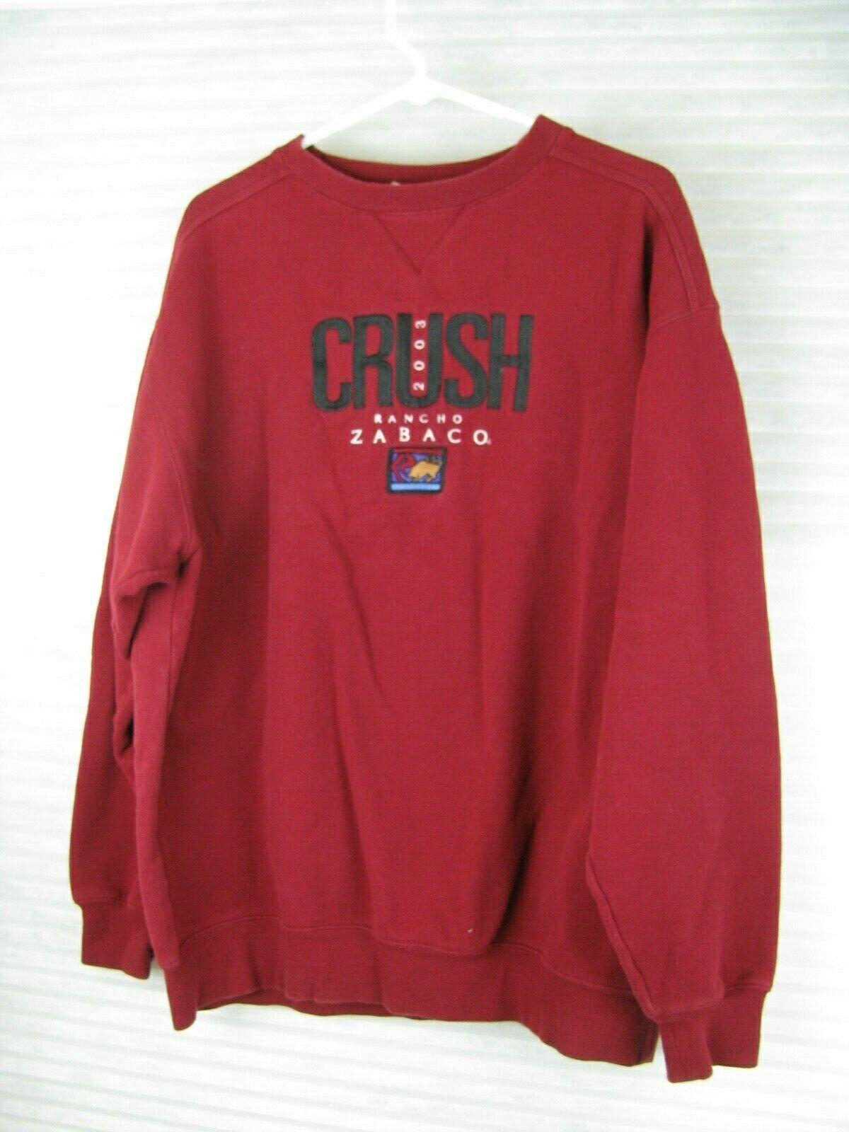 Lee Sueded Dallas Rancho Zabaco Winery Crush Mens Red Crewneck Sweatshirt Large