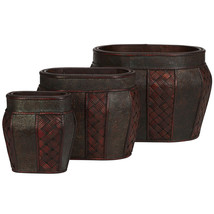 Oval Decorative Planter (Set of 3), Nearly Natural - €87,19 EUR