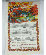 Vintage Linen Calendar Towel Bless this House 1981 - $12.31