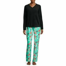 NWT $ 54 Pj Couture Fleece Pajama Set  WITH Blanket Black Fox  SIZE LARGE - $24.55