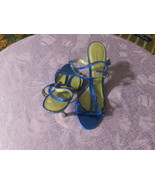 CHARLOTTE RUSSE HIGH HEELS SHOES METALLIC BLUE SIZE 6 GREAT FOR PROM NEW - $5.99