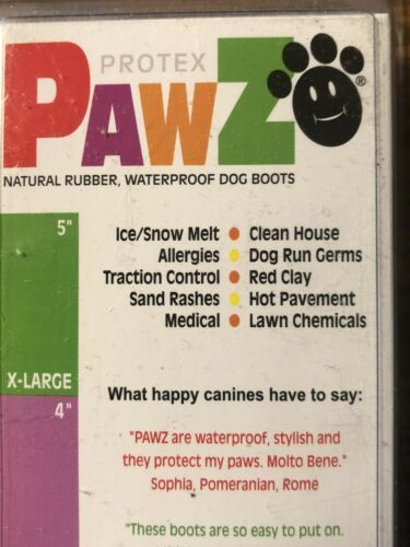 Pawz Disposable Reusable Dog Boots Booties Tiny - XX Small 12 Total Booties 1""