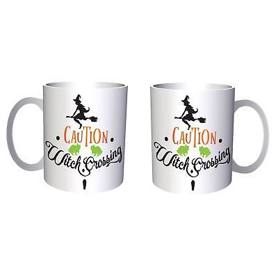 Caution witch crossing 11oz Mug t869
