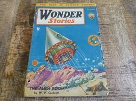 Wonder Stories December 1934 Pulp Magazine Sci Fi Gernsback Space Aliens - $28.93