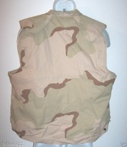 ARMY SURPLUS PASGT DESERT CAMO FLACK FISHING VEST COVER XS YOUTH KID - $5.22