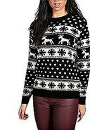 Ladies Reindeers and Snowflake Christmas Jumper US Size 6-14 (M/L (US 10... - $15.72