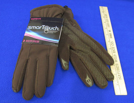 Isotoner Smart Touch Brown Gloves Phone Screens Pointer Thumb Grip Palms XL - $19.79