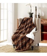 "CHEETAH STRIPE Super Soft Sherpa Luxury Throw Light Weight Blanket 50"" x 70"" - $35.95"