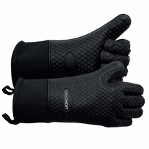 Oven heat Mitts Resistant BBQ Gloves Waterproof Silicone Gloves Kitchen... - $22.80