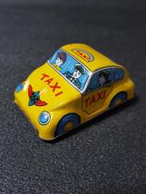Tin Toy 1970s Taxi Mini Car Made in JAPAN Antique SUPER RARE - $36.12