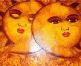 """2003 Tony Almonte """"Eclispe"""" Dominican Contemporary Love Romantic Art Pai... - $2,499.99"""