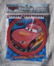 Cars Birthday Banner, Hallmark, Disney Pixar Taking the Race by Storm 8 ... - $5.83