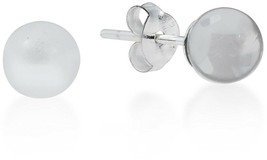 6 Mm Clear Fashion Crystal Round Ball .925 Sterling Silver Post Earrings - $36.13