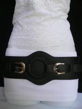 Damengürtel Mode Elastisch Hip Hohe Taille Schwarz West Ring Silberne Sc... - $23.50