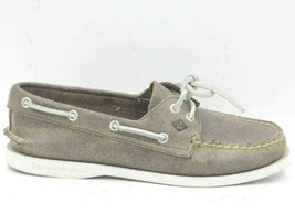 Sperry Top Sider Women Boat Shoes Size US 6.5M Brown Gray Leather - $34.37
