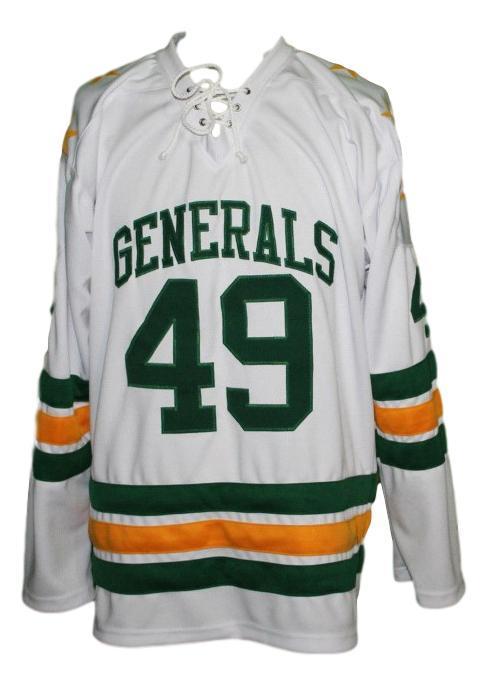 Greensboro generals retro hockey jersey 1960 white   1