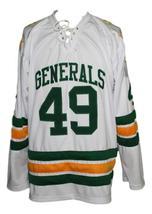 Custom Name # Greensboro Generals Retro Hockey Jersey 1960 New White Any Size image 1