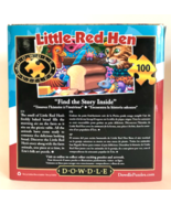 Dowdle Jigsaw Folk Art Puzzle Little Red Hen 100 Pieces 16 x 20 Made in USA - $14.84