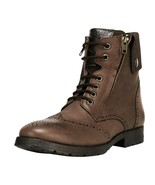 LibertyZeno Men's Genuine Leather Lace Up Ankle Length Casual Boots-Jerry01 - $63.99