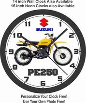 1978 SUZUKI PE250 MOTORCYCLE WALL CLOCK - $25.73