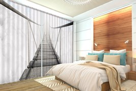 3D Suspension Bridge 101 Blockout Photo Curtain Print Curtains Drapes US... - $177.64+