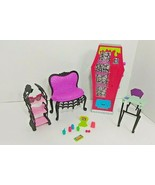 Monster High lot Social Spot student lounge playset school desk ever aft... - $11.87