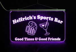 Custom LED Sign, Man cave sign with Beer Mug and Martini Glass - Home Bar image 4