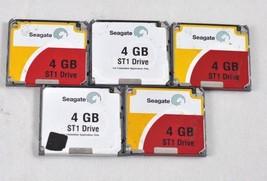 Lot of 5 Seagate MICRODRIVE 4GB ST1 MODEL ST640211CF Compact Flash Hard ... - $49.49